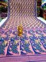 Dhakai Jamdani Sarees With Peacock Design Pallu