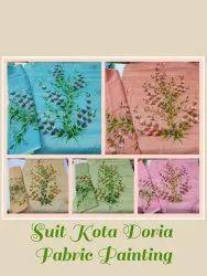 Fabric Unstitched Kota Doria Suits, Handwash