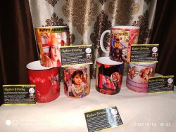 Ceremic White Personalized Photo Coffee Mugs, For Gifting, Size/Dimension: 325ml