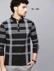 Fancy Casual Wear Full Sleeve Collar T Shirt