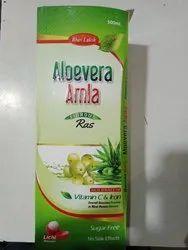 Litchi Aloe Vera Amla Juice, Packaging Type: Bottle, Packaging Size: 500 ml