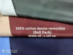 100% Cotton Denim Reversible