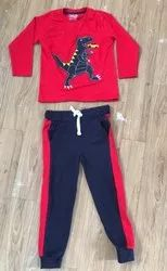 Indian Red Kids Clothing Set, 2 Years To 8 Years