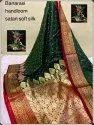Banarasi Handloom Satan Silk Sarees