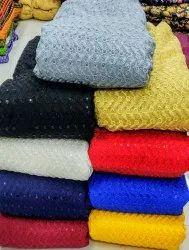 Designer Net Scallop Border Fabrics