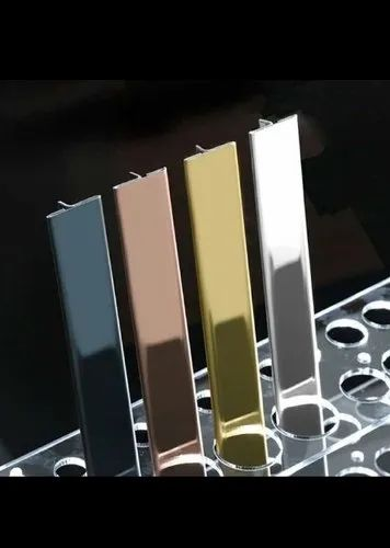 Stainless Steel 304 T Patti In Golden Color, Rose Gold Color, Black Color, Ss Finish