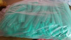 Non Woven Disposable Bouffant Cap Green Colour, Quantity Per Pack: 100 Caps, Size: 18 Inches