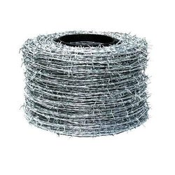 Galvanized Silver Barbed Wire