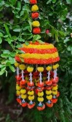Artificial Flower Tokri Hanging