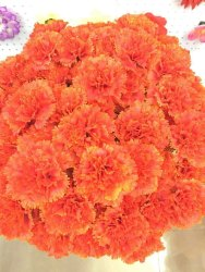 Orange Artificial Carnation Flower