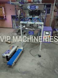 Semi Automatic Groceries Filling Sealing Machine
