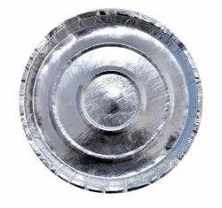 Paras Silver,Kela Patta Silver Paper Plate, Size: 11