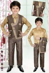Kids Wear cheks Baba court Suit