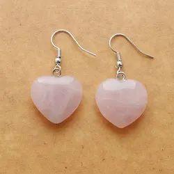 Rose Quartz Heart Earring