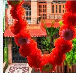 Plastic Artificial Marigold Flower Garland for ganpati
