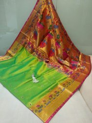 Attitude 6.3 m (with blouse piece) Paithani Saree
