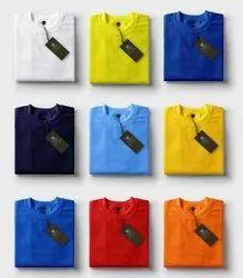 Nirmal knit Plain Mens Round Neck T Shirt, Size: S to xxl