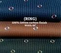 Ring 100% Cotton Carbon Finish