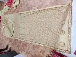work chiku color Designer Saree, 6 m (with blouse piece)