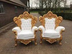 Fabric Wooden Teak Wood Living Room Maharaja 5 Seater Sofa Set, U Shape, Tight Back