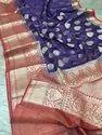Silk Linen Banarasi Silk Buti Work Sarees