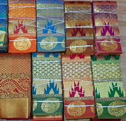 Party Wear Zari Border Silk Saree, 6.3 m (with blouse piece)