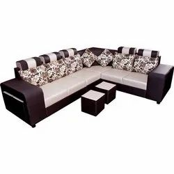 6 Seater L Shape Corner Designer Sofa Set, Living Room