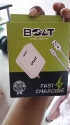 1mtr White Bolt Single Charger