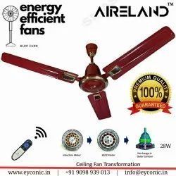 AIRELAND Brown Bldc Ceiling Fan, Fan Speed: 350, Power: 28