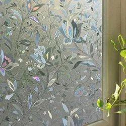 Transparent Etched 8 mm Decorative Glass