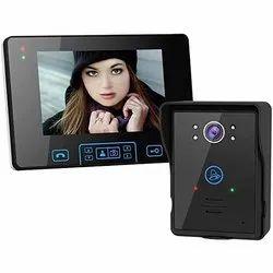 Black Wireless Video door phone, For Home