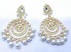 Golden Kundan Earrings