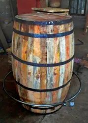 Brown Round Decore Barrel, For Home