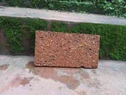 Slab Brown Laterite Flooring Stone Block, Thickness: 4 Inches