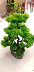Plastic Artificial Green Bonsai Tree, For Decoration