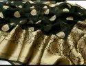 Silk Linen Banarasi Buti Work Sarees