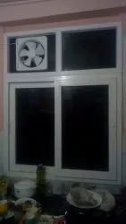 White Glossy Upvc Windows And Doors, Size/Dimension: 100mmX60mm