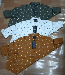 Cotton Printed Mens Casual Shirts