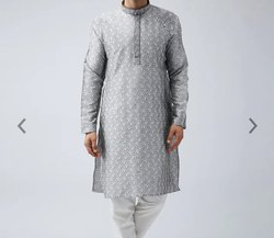 Silk Party Wear Fancy Kurta Pyjamas, Handwash