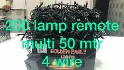 Round Copper 200 Lamp 50 Mtr Multi LED Christmas Light, For Decoration