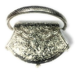 White Metal Purse