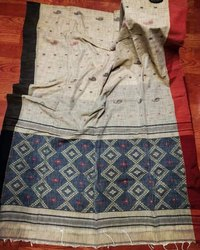 Khadi Cotton Hand Weaving Ikkat Sarees