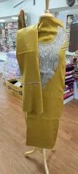 Colors Are Available Zari Kashmiri Tilla Woolen Embroidered Suits