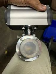 Tc End Butterfly Valve With Actuator