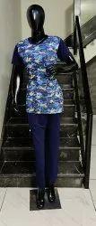 Female Multicolor Printed Night Suit