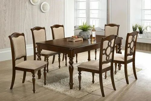 Anam Art Brown Wooden Dining Table, Modern Design Dining Room Chair