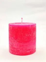 AuraDecor Rustic Finish Fragrance Pillar Candle