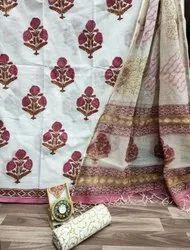 Cotton Suit With Kota Doria Dupatta