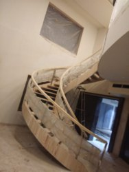 Flat Black Round Staircase