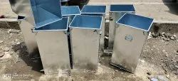 Galvanized Steel Grain Storage Box or Rice Container, Thickness: .6 Mm, Capacity: 30 Kg